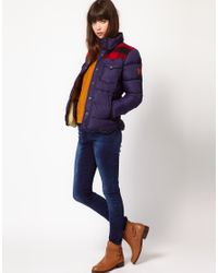 Penfield | Blue Rockford Down Filled Check Patch Jacket | Lyst