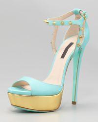 Ruthie Davis | Blue Jupiter Studded Sandal | Lyst