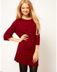 ASOS - Red Tee Shirt Dress in Knit - Lyst