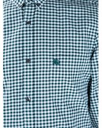 Burberry Brit | Green Checked Print Shirt for Men | Lyst