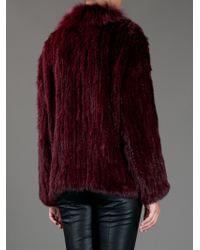Elizabeth and James | Red Rabbit Fur Coat | Lyst