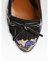Fendi | Purple Austen Satin Suede Platform Pumps | Lyst
