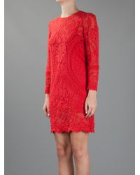 Isabel Marant | Red Lace Dress | Lyst