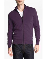 Michael Kors | Purple Zip Cardigan for Men | Lyst