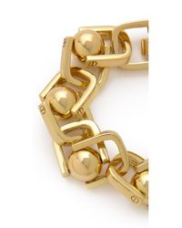A.L.C. - Metallic Ball and Chain Bracelet - Lyst