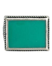 ASOS - Metallic Asos Coloured Stone Ring for Men - Lyst