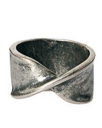 ASOS - Metallic Asos Twisted Metal Ring for Men - Lyst