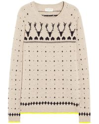 Chinti & Parker | Natural Reindeer Intarsia Cashmere Sweater | Lyst
