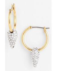 Juicy Couture | Metallic Heavy Metal Hoop Drop Earrings | Lyst
