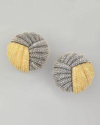 Lagos - Metallic Soiree Button Earrings - Lyst