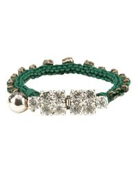 Shourouk | Green Barak Bracelet | Lyst