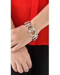 Tory Burch | Metallic Rings Bracelet | Lyst