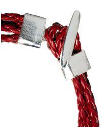 ASOS - Red Asos Multi Plait Bracelet for Men - Lyst