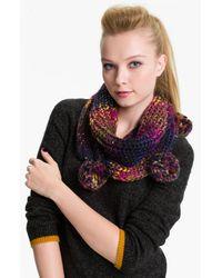 Betsey Johnson | Purple Rainbow Brite Infinity Scarf | Lyst