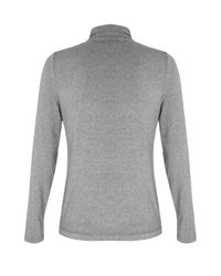 Dash | Gray Ruched Side Polo Neck | Lyst