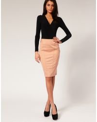 ASOS Collection | Pink Asos Tailored High Waist Seamed Pencil Skirt | Lyst