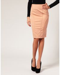 ASOS Collection - Pink Asos Tailored High Waist Seamed Pencil Skirt - Lyst
