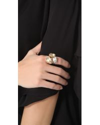 Made Her Think - Metallic Dame Stacked Pave Rings - Lyst