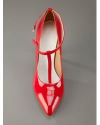Maison Margiela | Red T Bar Pump | Lyst