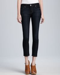 PAIGE - Blue Kylie Stream Cropped Jeans - Lyst