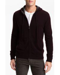 Vince | Black Cashmere Zip Hoodie for Men | Lyst