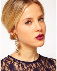 ASOS - Metallic Mismatch Jewel Opulent Earrings - Lyst