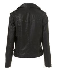 TOPSHOP   Black Oversized Belted Biker Jacket   Lyst