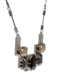 Whistles - Metallic Taylor Block Statement Necklace - Lyst