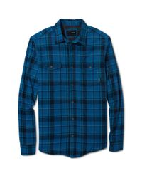 Hurley - Blue Sherpa Lined Stat Flannel Plaid Shirt for Men - Lyst