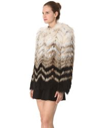 Theory - White Cassius Tersk Fur Jacket - Lyst