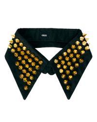 ASOS - Black Stud Collar - Lyst