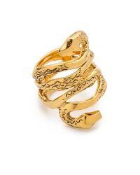 Aurelie Bidermann - Metallic Mamba Snake Ring - Lyst