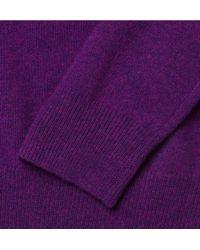J.Crew - Purple Cashmere Vneck Sweater for Men - Lyst