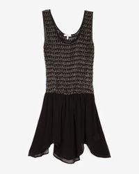 Joie   Black Embellished Elastic Waist Dress   Lyst