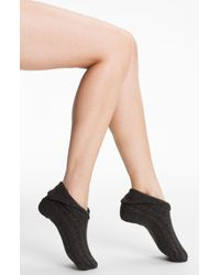 Ralph Lauren | Black Lauren Cable Knit Bootie Socks | Lyst