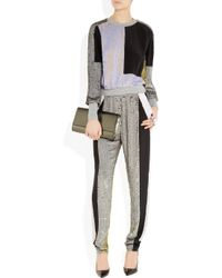 3.1 Phillip Lim | Gray Sequined Silk Track Pants | Lyst