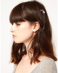 ASOS - Metallic Jewelled Hair Ear Cuff - Lyst