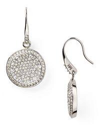 Michael Kors - Metallic Concave Pave Drop Earrings - Lyst