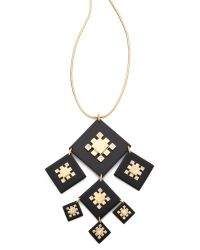Tory Burch - Metallic Geo Pendant Necklace - Lyst