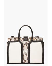 Saint Laurent | White Ivory Python Leather Chyc Bag | Lyst