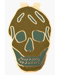 Alexander McQueen - Green Skull Money Clip for Men - Lyst