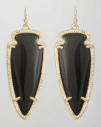 Kendra Scott - Black Skylar Arrow Earrings   - Lyst