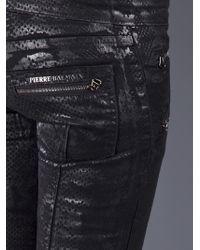 Balmain   Black Printed Jean   Lyst