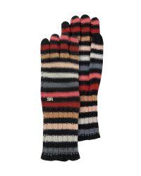 Sonia Rykiel - Multicolor Striped Wool Gloves for Men - Lyst