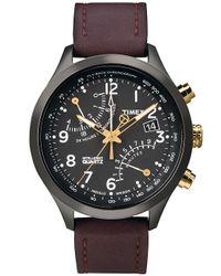 Timex | Brown Mens Chronograph Intelligent Quartz Indigloãâ Watch for Men | Lyst