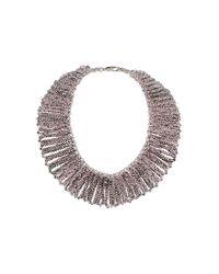 TOPSHOP - Purple Premium Facet Collar - Lyst