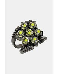TOPSHOP   Black Reversible Neon Ring   Lyst