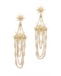 Belle Noel | Gold Vintage Glamour Earrings | Lyst