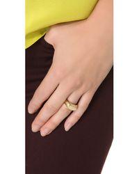 Gabriela Artigas | Metallic Signet Ring - Yellow Gold | Lyst