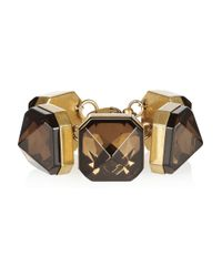 Gucci | Gold-Plated Crystal Bracelet | Lyst